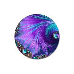 Abstract Fractal Fractal Structures Magnet 3  (round)