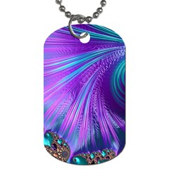 Abstract Fractal Fractal Structures Dog Tag (one Side)