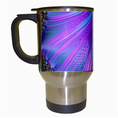Abstract Fractal Fractal Structures Travel Mugs (white)