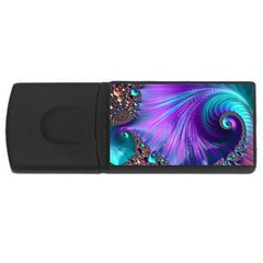 Abstract Fractal Fractal Structures Rectangular Usb Flash Drive