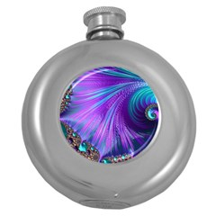Abstract Fractal Fractal Structures Round Hip Flask (5 Oz)