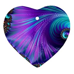 Abstract Fractal Fractal Structures Heart Ornament (two Sides)