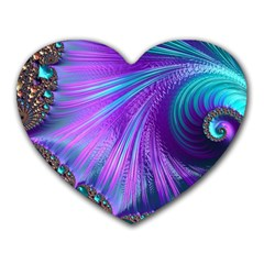 Abstract Fractal Fractal Structures Heart Mousepads