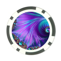 Abstract Fractal Fractal Structures Poker Chip Card Guard
