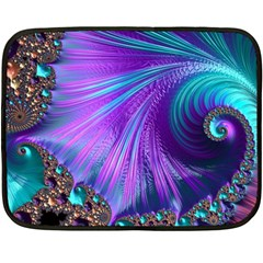 Abstract Fractal Fractal Structures Fleece Blanket (mini) by Nexatart