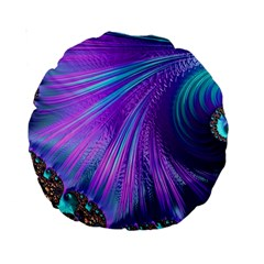 Abstract Fractal Fractal Structures Standard 15  Premium Round Cushions