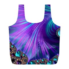 Abstract Fractal Fractal Structures Full Print Recycle Bags (l)