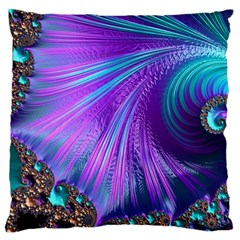 Abstract Fractal Fractal Structures Large Flano Cushion Case (two Sides)