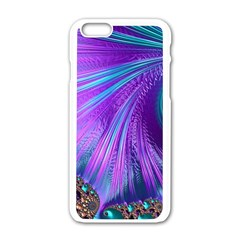 Abstract Fractal Fractal Structures Apple Iphone 6/6s White Enamel Case
