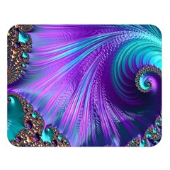 Abstract Fractal Fractal Structures Double Sided Flano Blanket (large)  by Nexatart