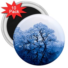 Nature Inspiration Trees Blue 3  Magnets (10 Pack)