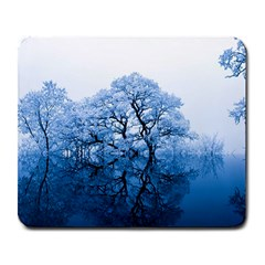 Nature Inspiration Trees Blue Large Mousepads