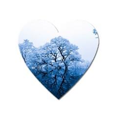 Nature Inspiration Trees Blue Heart Magnet