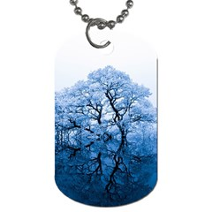 Nature Inspiration Trees Blue Dog Tag (one Side)