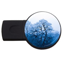 Nature Inspiration Trees Blue Usb Flash Drive Round (4 Gb)