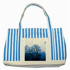 Nature Inspiration Trees Blue Striped Blue Tote Bag