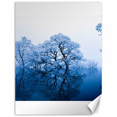 Nature Inspiration Trees Blue Canvas 12  X 16