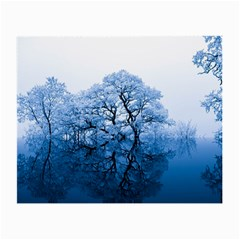 Nature Inspiration Trees Blue Small Glasses Cloth (2 Side)