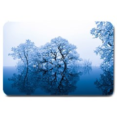 Nature Inspiration Trees Blue Large Doormat