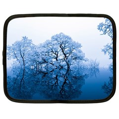 Nature Inspiration Trees Blue Netbook Case (large)