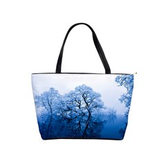 Nature Inspiration Trees Blue Shoulder Handbags