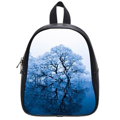 Nature Inspiration Trees Blue School Bag (small)