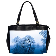 Nature Inspiration Trees Blue Office Handbags (2 Sides)