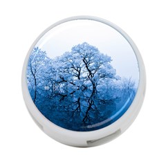 Nature Inspiration Trees Blue 4 Port Usb Hub (one Side)