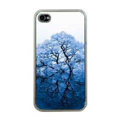 Nature Inspiration Trees Blue Apple Iphone 4 Case (clear)