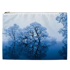 Nature Inspiration Trees Blue Cosmetic Bag (xxl)