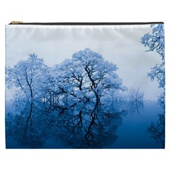 Nature Inspiration Trees Blue Cosmetic Bag (xxxl)