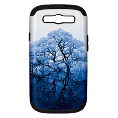 Nature Inspiration Trees Blue Samsung Galaxy S Iii Hardshell Case (pc+silicone)