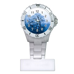 Nature Inspiration Trees Blue Plastic Nurses Watch