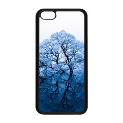 Nature Inspiration Trees Blue Apple Iphone 5c Seamless Case (black)