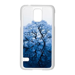 Nature Inspiration Trees Blue Samsung Galaxy S5 Case (white)