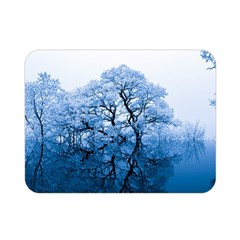 Nature Inspiration Trees Blue Double Sided Flano Blanket (mini)