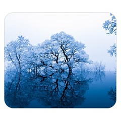 Nature Inspiration Trees Blue Double Sided Flano Blanket (small)