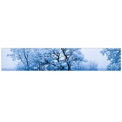 Nature Inspiration Trees Blue Large Flano Scarf
