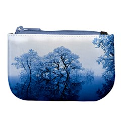 Nature Inspiration Trees Blue Large Coin Purse