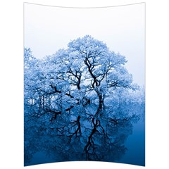 Nature Inspiration Trees Blue Back Support Cushion