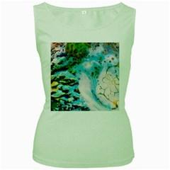 Abstract Art Modern Detail Macro Women s Green Tank Top