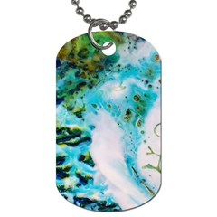 Abstract Art Modern Detail Macro Dog Tag (one Side)