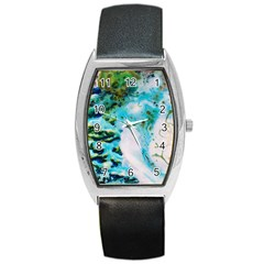 Abstract Art Modern Detail Macro Barrel Style Metal Watch