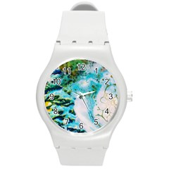 Abstract Art Modern Detail Macro Round Plastic Sport Watch (m)
