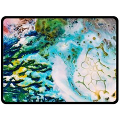 Abstract Art Modern Detail Macro Double Sided Fleece Blanket (large)