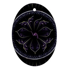 Fractal Abstract Purple Majesty Ornament (oval)