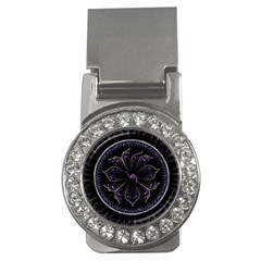 Fractal Abstract Purple Majesty Money Clips (cz)