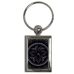 Fractal Abstract Purple Majesty Key Chains (rectangle)