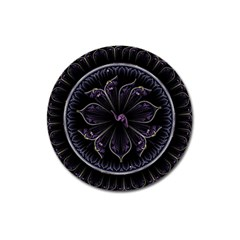Fractal Abstract Purple Majesty Magnet 3  (round)
