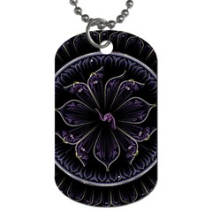 Fractal Abstract Purple Majesty Dog Tag (one Side)